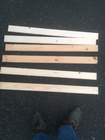 Bed slats. Box of 20. Can deliver local Leicester