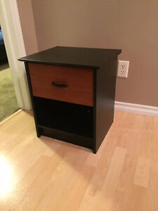 Bedside table with Masterlock Box installed underneath