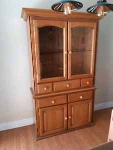 Wooden Hutch Display Cabinet