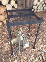 Portable Adjustable Fire Pit Cooking Grate