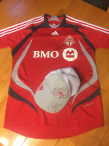 Toronto Football Club (TFC) jersey and hat