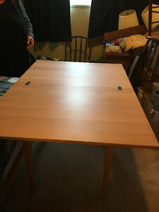 Fold out dining table