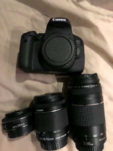 Canon EOS 750D Camera W/ LOTS OF ACCESSORIES