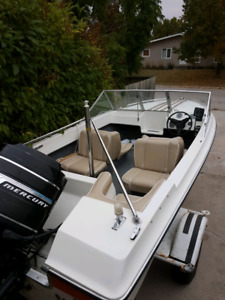115hp  boat and trailer
