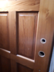 Set of TWO Solid Wooden Entry Exterior Doors
