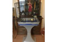 Bird cage with stand SOLD