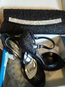 Womens Designer High Heel Shoes and Matching Purse