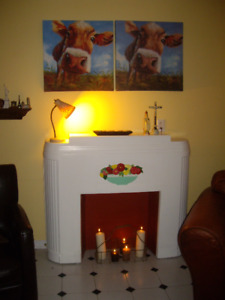 """ART DECO or SOUTH WEST STYLE MOCK FIREPLACE 1920"""""""