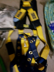 Safety Roofing body Harness with rope lanyard lot Brand New