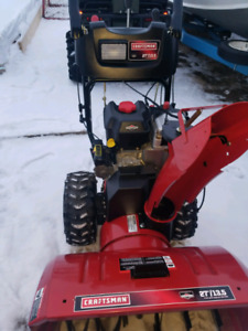 "Craftsman 27"" 305cc snowblower."