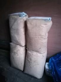 4 Sacks of sawdust