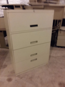 "4 Drawer ""All-Steel"" lateral filing cabinet"