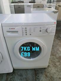 Bosch 7kg washing machine free delivery