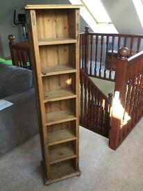 Pine CD shelf unit