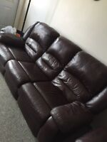 Recliner leather sofa,recliner leather love seat,recliner chair