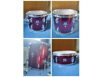 CB Drum kit complete with Pearl Double bass pedal, cymbals, stands and bag
