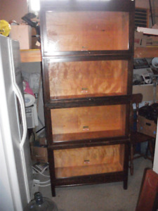 Four Section Barrister Stacking Bookcase