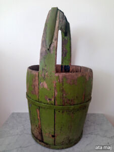 Antique Wooden Chinese Rice Pail