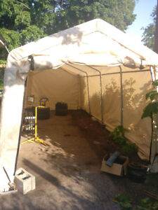 10' by 20' car shelter/tent by shelter logic