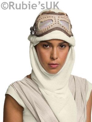 Adult Official Star Wars Force Awakens Rey Costume Eye Mask & Hood Fancy Dress