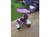 Smart trike purple - baby, toddler, young kids adaptable