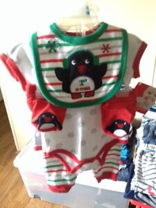 """NEW with tags • """"1st x-mas"""" 5 piece outfit • 0-3m"""