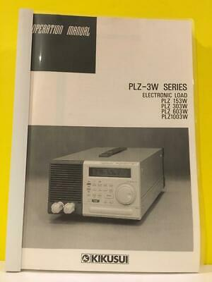 Kikusui Plz-3w Series Electronic Load Plz 153w 303w 603w 1003w Operation Manual