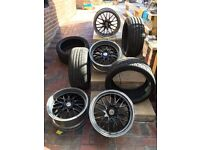 Bbs type staggered alloys size 18 for bmw/ other cars