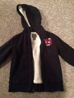 Boys lined coat Sz small 5/6