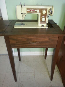 Beautiful Antique Crown Sewing Machine & Table - $100