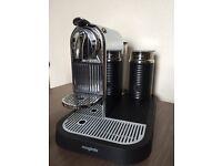 Magimix Nespresso Citiz Chrome Coffee Espresso Maker & Aeroccino Milk Frother