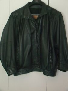 black leather bikers jacket