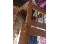Wood single bed frame pine