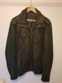 Genuine superdry leather jacket XL