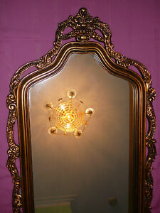 "Superbe miroir antique/1940, style Louis XVI, grand 27""x60"" doré West Island Greater Montréal image 1"