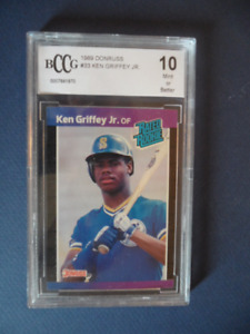 KEN GRIFFEY JR. ROOKIE CARD GRADED MINT 10