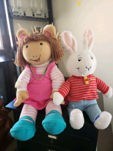 Microsoft  TALKING & MOVING DW (Arthur's sister) Plush & buster