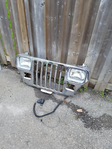 Jeep Yj front chrome grill