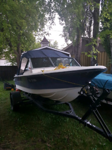 17ft boat with 60hp Mercury