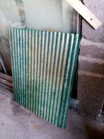 Rabbit hutch roof (fibre glass) panels
