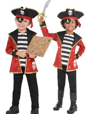 Child Small Age 4 to 6 Years Old - Pirate Pretend Play Costume for Boy or Girl](4 Year Old Boy Costumes)