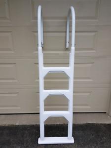 Pool ladder.  Above ground.