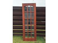 Mahogany 15 pain bevelled glass door