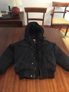 Two  Girls Winter Down Filled Black Ecko Hooded Jacket size 6x 8