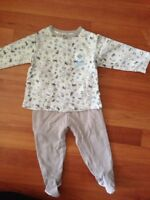 Baby jacket and pants ensemble