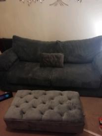 3 seater jumbo cord sofa. Almost new