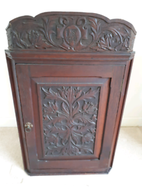 Antique Victorian Corner Wall Cupboard