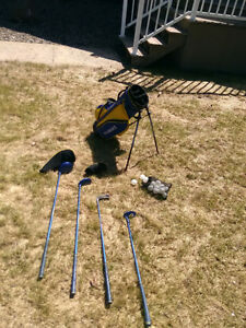 Kid golf set. Left handed clubs