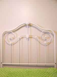 Metal White Headboard