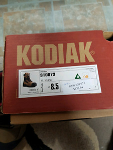 """8 """"  size 8.5 work boots. $60.00"""